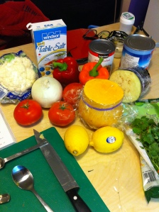 almost all the same ingredients for my ratatouille and the jalfrezi